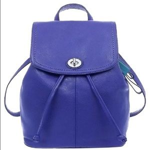 COACH French Blue Park Leather Backpack Purse